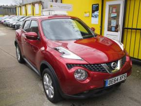 Nissan Juke 1.5 dCi Acenta 5dr Bluetooth Alloys Hatchback Diesel Metallic Burgundy at Mex Cars Isleworth