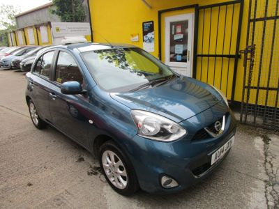 Nissan Micra 1.2 Acenta 5dr £30 Road Tax Sat Nav Bluetooth Hatchback Petrol Metallic BlueNissan Micra 1.2 Acenta 5dr £30 Road Tax Sat Nav Bluetooth Hatchback Petrol Metallic Blue at Mex Cars Isleworth