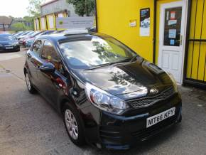 Kia Rio 1.1 CRDi 1 Air 5dr  £0 Road Tax ULEZ Compliant Hatchback Diesel Black at Mex Cars Isleworth