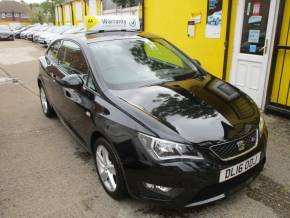 SEAT Ibiza 1.2 TSI 90 FR Technology 3dr Nav Bluetooth Hatchback Petrol Metallic Black at Mex Cars Isleworth