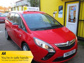 "Vauxhall Zafira 1.4T SRi 5dr Bluetooth 18"" AlloysFull Service History MPV Petrol Metallic Red at Mex Cars Isleworth"