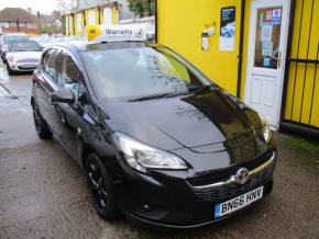 Vauxhall Corsa 1.4 [75] ecoFLEX Energy 5dr [AC] Bluetooth Black Alloys Hatchback Petrol Metallic Black at Mex Cars Isleworth