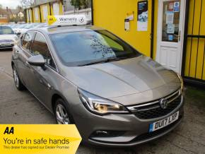 Vauxhall Astra 1.0T 12V ecoFLEX SRi Nav 5dr £20 Road TAX Bluetooth Hatchback Petrol Metallic Grey at Mex Cars Isleworth
