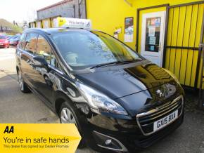 Peugeot 5008 1.6 e-HDi Allure 5dr EGC Automatic SatNav Bluetooth MPV Diesel Metallic Black at Mex Cars Isleworth