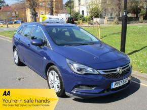 Vauxhall Astra 1.6 CDTi 16V ecoFLEX Tech Line 5dr FSH Satnav Bluetooth Alloys Estate Diesel Metallic Blue at Mex Cars Isleworth