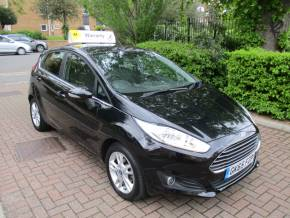 Ford Fiesta 1.0 EcoBoost Zetec 5dr FSH Bluetooth Alloys Hatchback Petrol Metallic Black at Mex Cars Isleworth
