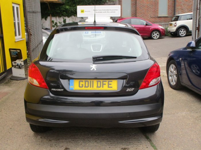 Peugeot 207 1.4 HDi Sportium 3dr Bluetooth £20 Road Tax A Yea r Full Service History Hatchback Diesel Metallic Black