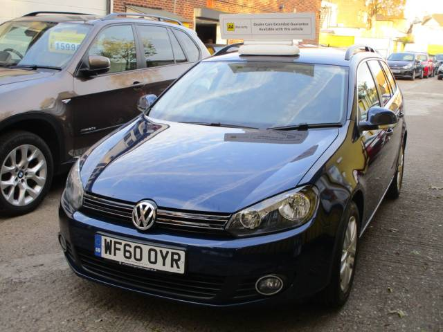 Volkswagen Golf 1.6 TDI 105 SE 5dr DSG Automatic Low Mileage With Full  Service History Estate Diesel Metallic Blue