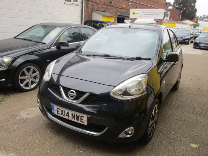 Nissan Micra 1.2 Tekna 5dr £30 Road Tax Sat Nav Bluetooth Hatchback Petrol Metallic Black